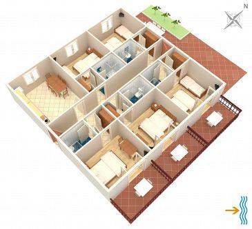Apartament A-2073-a - Apartamenty Uvala Pokrivenik (Hvar) - 2073