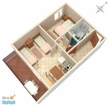 Apartament A-2076-a - Apartamenty Rastići (Čiovo) - 2076