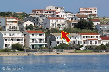 Metajna, Pag, Property 208 - Apartments with sandy beach.