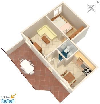 Apartment A-2080-c - Apartments Rastići (Čiovo) - 2080