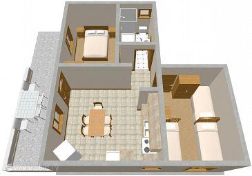 Zatoglav, Plan u smještaju tipa apartment, WIFI.
