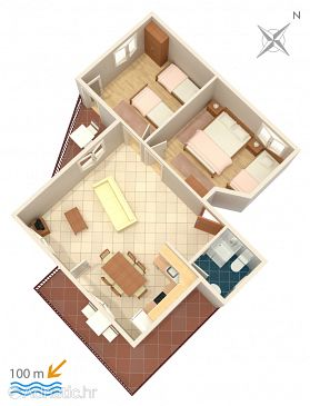 Apartment A-2095-c - Apartments Vinišće (Trogir) - 2095