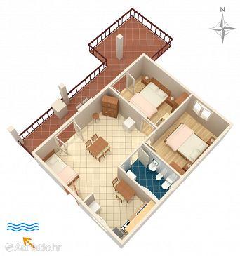 Apartment A-2096-a - Apartments Stupin Čeline (Rogoznica) - 2096