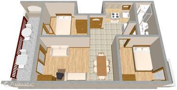 Apartment A-2102-a - Apartments Rastići (Čiovo) - 2102