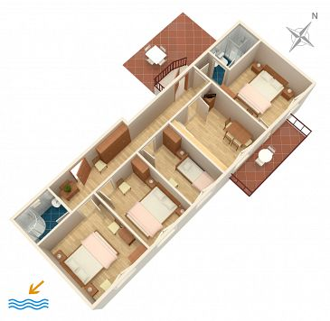 Apartment A-2125-a - Apartments Zaton Veliki (Dubrovnik) - 2125