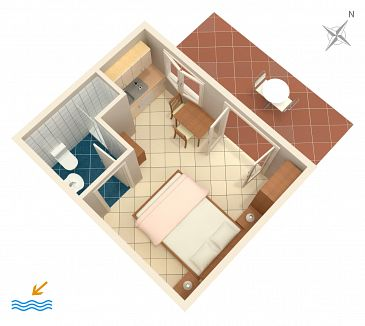 Studio flat AS-2125-a - Apartments Zaton Veliki (Dubrovnik) - 2125