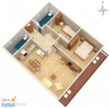 Apartment A-2136-b - Apartments Plat (Dubrovnik) - 2136