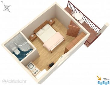 Studio flat AS-2137-a - Apartments and Rooms Molunat (Dubrovnik) - 2137
