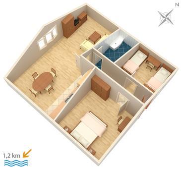 Apartment A-2177-c - Apartments Orašac (Dubrovnik) - 2177