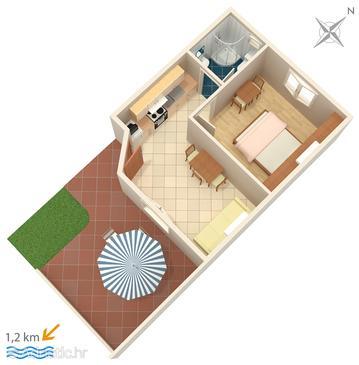 Apartment A-2177-f - Apartments Orašac (Dubrovnik) - 2177