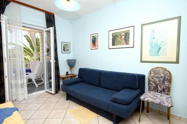 Slano, Living room u smještaju tipa apartment, dostupna klima, dopusteni kucni ljubimci i WIFI.