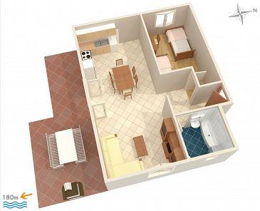 Apartament A-2194-a - Apartamenty Uvala Ljubljeva (Trogir) - 2194