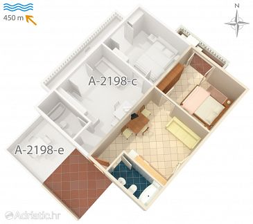 Apartment A-2198-b - Apartments Mali Lošinj (Lošinj) - 2198