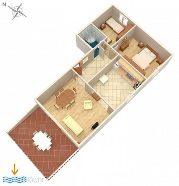 Apartment A-224-e - Apartments Povljana (Pag) - 224