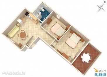 Premantura, Plan u smještaju tipa apartment, dopusteni kucni ljubimci i WIFI.