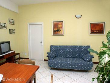 Premantura, Living room u smještaju tipa apartment, dopusteni kucni ljubimci i WIFI.