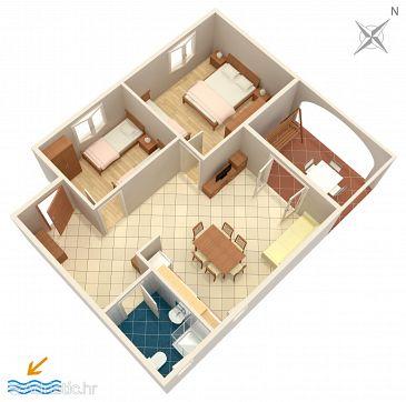 Medulin, Plan u smještaju tipa apartment, WIFI.