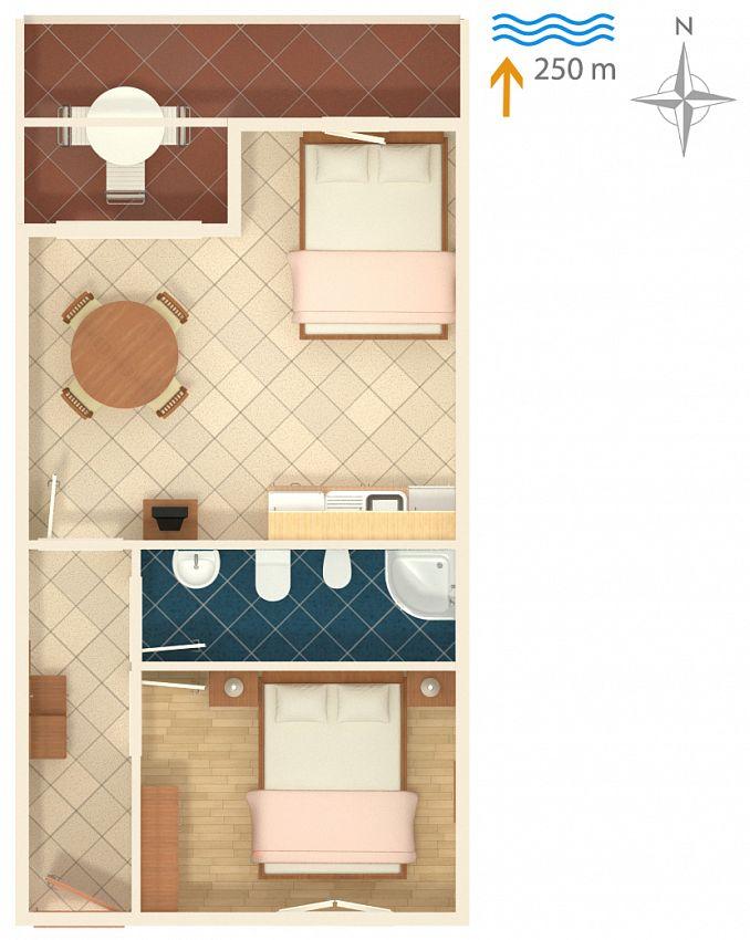 Apartmán v meste Rabac - 2323