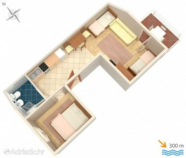 Apartment A-2362-a - Apartments and Rooms Selce (Crikvenica) - 2362