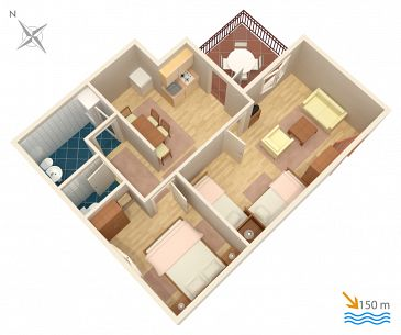 Apartament A-2372-c - Apartamenty Selce (Crikvenica) - 2372