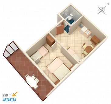 Apartament A-2383-f - Apartamenty Selce (Crikvenica) - 2383