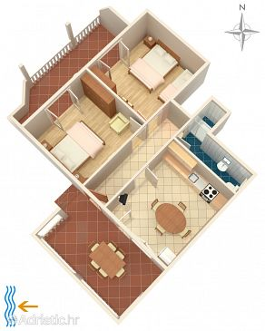 Apartment A-2392-b - Apartments Selce (Crikvenica) - 2392