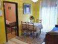 Selce, Dining room u smještaju tipa apartment, dostupna klima i dopusteni kucni ljubimci.