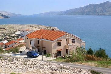 Zubovići, Pag, Property 240 - Apartments blizu mora with pebble beach.