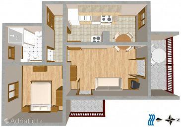 Apartment A-2406-a - Apartments Okrug Gornji (Čiovo) - 2406