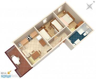 Apartament A-241-a - Apartamenty Zubovići (Pag) - 241