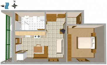 Apartment A-2412-a - Apartments Vis (Vis) - 2412