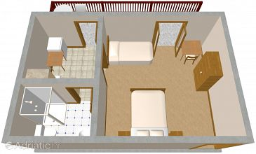 Studio flat AS-2415-a - Apartments and Rooms Klenovica (Novi Vinodolski) - 2415