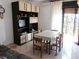Novi Vinodolski, Jadalnia u smještaju tipa apartment, dostupna klima i WIFI.