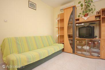 Vis, Living room u smještaju tipa apartment, dostupna klima, dopusteni kucni ljubimci i WIFI.
