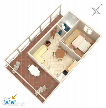 Apartment A-2461-a - Apartments Milna (Vis) - 2461
