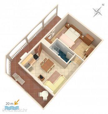Apartment A-2461-b - Apartments Milna (Vis) - 2461