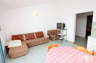 Zavalatica, Pokój dzienny w zakwaterowaniu typu apartment, dopusteni kucni ljubimci i WIFI.