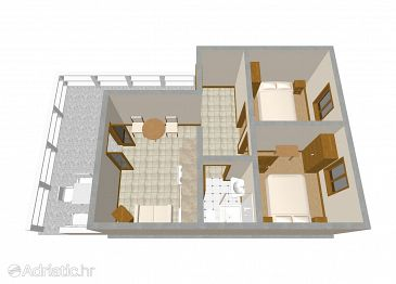 Apartment A-247-b - Apartments Zavalatica (Korčula) - 247