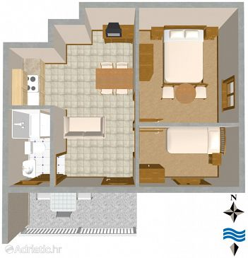 Apartment A-2477-a - Apartments Vis (Vis) - 2477