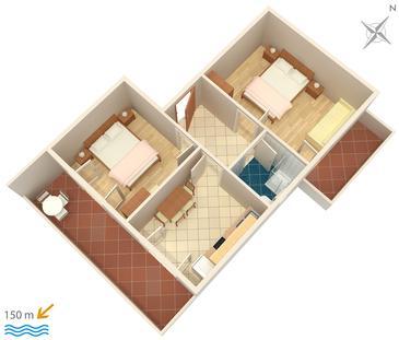 Apartament A-2491-a - Apartamenty Mali Lošinj (Lošinj) - 2491