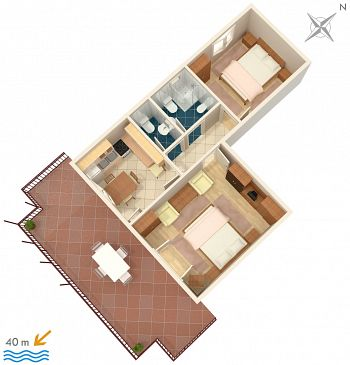 Apartament A-2493-b - Apartamenty Mali Lošinj (Lošinj) - 2493