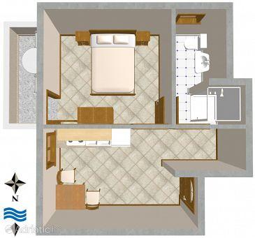 Apartment A-2506-b - Apartments and Rooms Nerezine (Lošinj) - 2506
