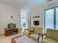 Nerezine, Living room u smještaju tipa apartment, dostupna klima, dopusteni kucni ljubimci i WIFI.