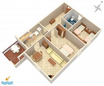 Apartment A-2528-a - Apartments Umag (Umag) - 2528