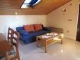 Umag, Living room u smještaju tipa apartment, dostupna klima, dopusteni kucni ljubimci i WIFI.