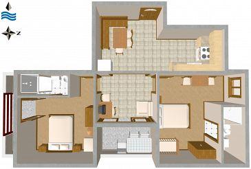 Apartament A-2538-b - Kwatery Novigrad (Novigrad) - 2538
