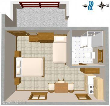 Studio flat AS-2538-b - Apartments and Rooms Novigrad (Novigrad) - 2538