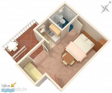 Studio flat AS-2579-a - Apartments Podaca (Makarska) - 2579