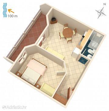 Apartment A-2581-a - Apartments Drašnice (Makarska) - 2581