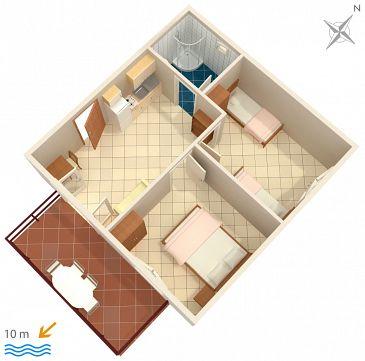 Apartament A-2583-b - Apartamenty Uvala Jedra (Hvar) - 2583